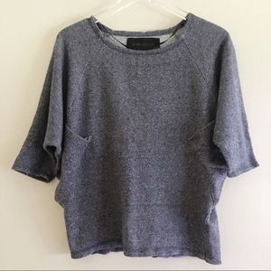 Zara Denim Wear Collection Slouchy Sweatshirt M